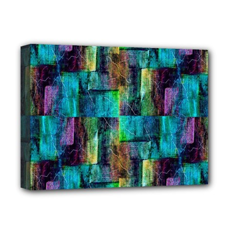 Abstract Square Wall Deluxe Canvas 16  X 12   by Costasonlineshop