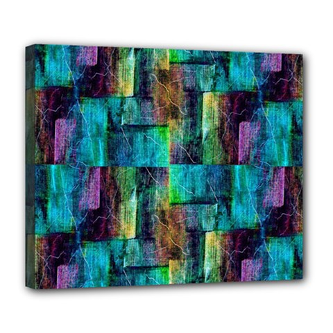 Abstract Square Wall Deluxe Canvas 24  X 20   by Costasonlineshop