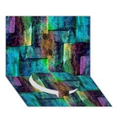 Abstract Square Wall Circle Bottom 3d Greeting Card (7x5)  by Costasonlineshop