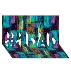 Abstract Square Wall #1 Dad 3d Greeting Card (8x4)  by Costasonlineshop