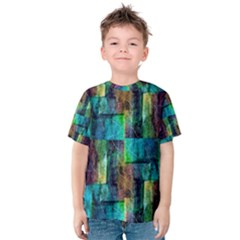Abstract Square Wall Kid s Cotton Tee by Costasonlineshop