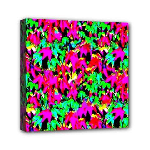 Colorful Leaves Mini Canvas 6  X 6  by Costasonlineshop