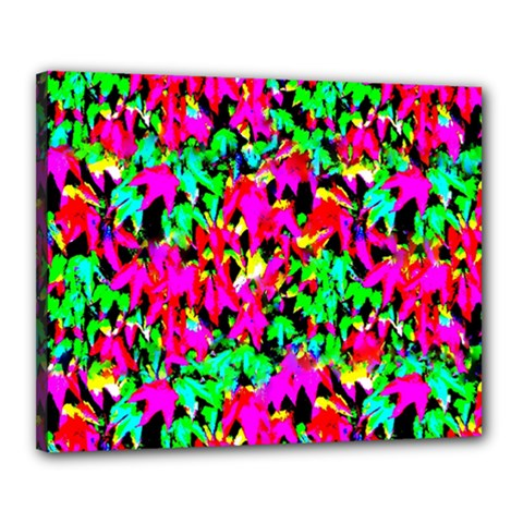 Colorful Leaves Canvas 20  X 16  by Costasonlineshop