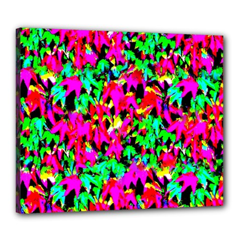 Colorful Leaves Canvas 24  X 20  by Costasonlineshop