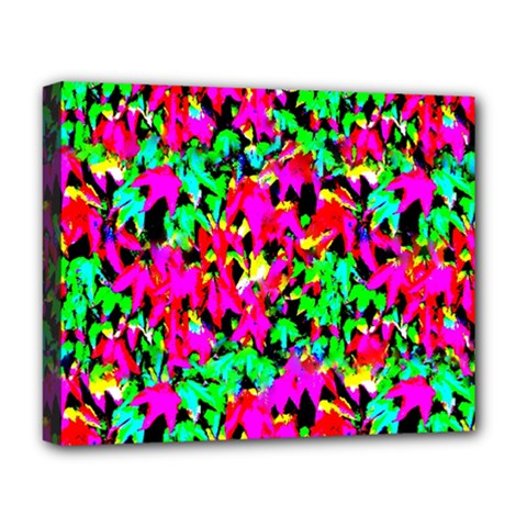 Colorful Leaves Deluxe Canvas 20  X 16   by Costasonlineshop