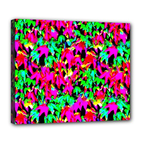 Colorful Leaves Deluxe Canvas 24  X 20   by Costasonlineshop