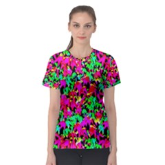 Colorful Leaves Women s Sport Mesh Tees by Costasonlineshop