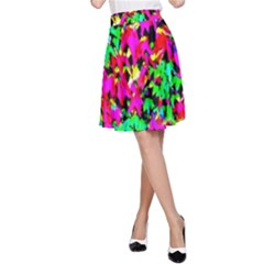 Colorful Leaves A Line Skirt by Costasonlineshop