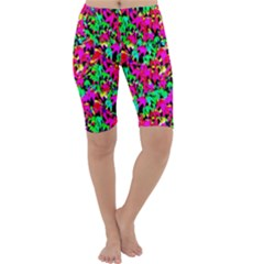 Colorful Leaves Cropped Leggings by Costasonlineshop