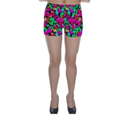 Colorful Leaves Skinny Shorts by Costasonlineshop