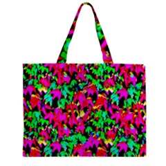 Colorful Leaves Zipper Tiny Tote Bags by Costasonlineshop