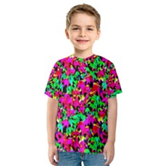 Colorful Leaves Kid s Sport Mesh Tees by Costasonlineshop