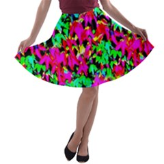 Colorful Leaves A Line Skater Skirt by Costasonlineshop