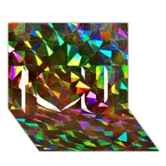 Cool Glitter Pattern I Love You 3d Greeting Card (7x5)  by Costasonlineshop