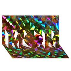 Cool Glitter Pattern Mom 3d Greeting Card (8x4)  by Costasonlineshop