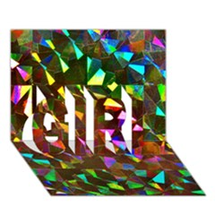 Cool Glitter Pattern Girl 3d Greeting Card (7x5)  by Costasonlineshop