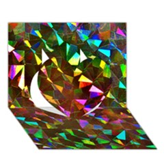 Cool Glitter Pattern Heart 3d Greeting Card (7x5)  by Costasonlineshop
