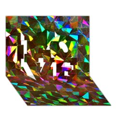 Cool Glitter Pattern Love 3d Greeting Card (7x5)  by Costasonlineshop