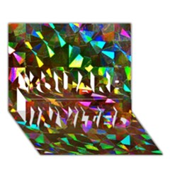 Cool Glitter Pattern You Are Invited 3d Greeting Card (7x5)  by Costasonlineshop