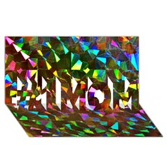 Cool Glitter Pattern #1 Mom 3d Greeting Cards (8x4)  by Costasonlineshop