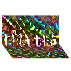 Cool Glitter Pattern Best Bro 3d Greeting Card (8x4)  by Costasonlineshop