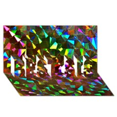 Cool Glitter Pattern Best Sis 3d Greeting Card (8x4)  by Costasonlineshop