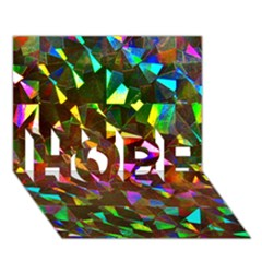 Cool Glitter Pattern Hope 3d Greeting Card (7x5)  by Costasonlineshop