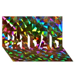 Cool Glitter Pattern #1 Dad 3d Greeting Card (8x4)  by Costasonlineshop