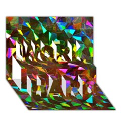 Cool Glitter Pattern Work Hard 3d Greeting Card (7x5)  by Costasonlineshop