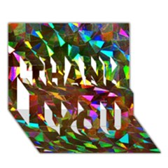 Cool Glitter Pattern Thank You 3d Greeting Card (7x5)  by Costasonlineshop