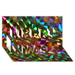 Cool Glitter Pattern Merry Xmas 3d Greeting Card (8x4)  by Costasonlineshop