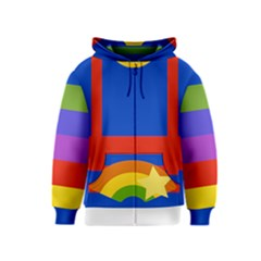 Rainbow Kids Zipper Hoodie by Ellador