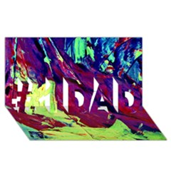 Abstract Painting Blue,yellow,red,green #1 Dad 3d Greeting Card (8x4)  by Costasonlineshop