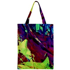 Abstract Painting Blue,yellow,red,green Zipper Classic Tote Bags by Costasonlineshop