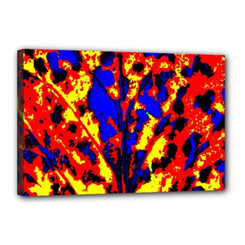 Fire Tree Pop Art Canvas 18  X 12  by Costasonlineshop