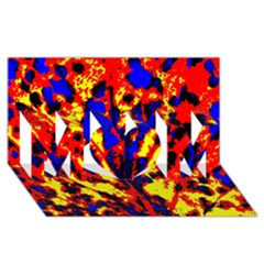 Fire Tree Pop Art Mom 3d Greeting Card (8x4)  by Costasonlineshop