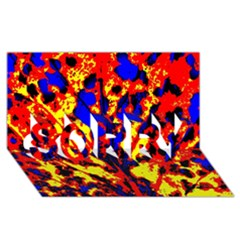 Fire Tree Pop Art Sorry 3d Greeting Card (8x4)  by Costasonlineshop