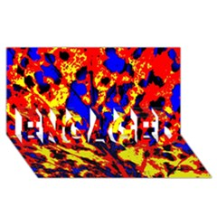 Fire Tree Pop Art Engaged 3d Greeting Card (8x4)  by Costasonlineshop