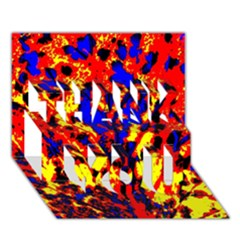 Fire Tree Pop Art Thank You 3d Greeting Card (7x5)  by Costasonlineshop