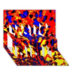 Fire Tree Pop Art You Did It 3d Greeting Card (7x5) by Costasonlineshop