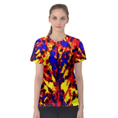 Fire Tree Pop Art Women s Sport Mesh Tees by Costasonlineshop