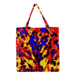 Fire Tree Pop Art Grocery Tote Bags by Costasonlineshop