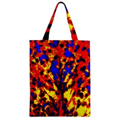 Fire Tree Pop Art Zipper Classic Tote Bags by Costasonlineshop