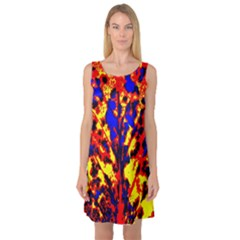 Fire Tree Pop Art Sleeveless Satin Nightdresses by Costasonlineshop