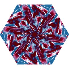 Blue Red White Marble Pattern Mini Folding Umbrellas by Costasonlineshop