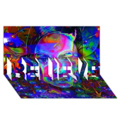 Night Dancer Believe 3d Greeting Card (8x4)  by icarusismartdesigns