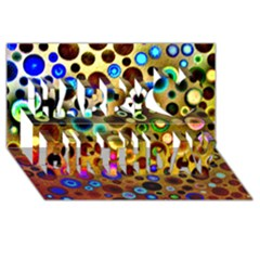 Colourful Circles Pattern Happy Birthday 3d Greeting Card (8x4)  by Costasonlineshop