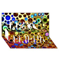 Colourful Circles Pattern Best Friends 3d Greeting Card (8x4)