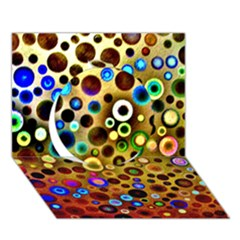 Colourful Circles Pattern Circle 3d Greeting Card (7x5)  by Costasonlineshop