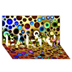 Colourful Circles Pattern Party 3d Greeting Card (8x4)  by Costasonlineshop